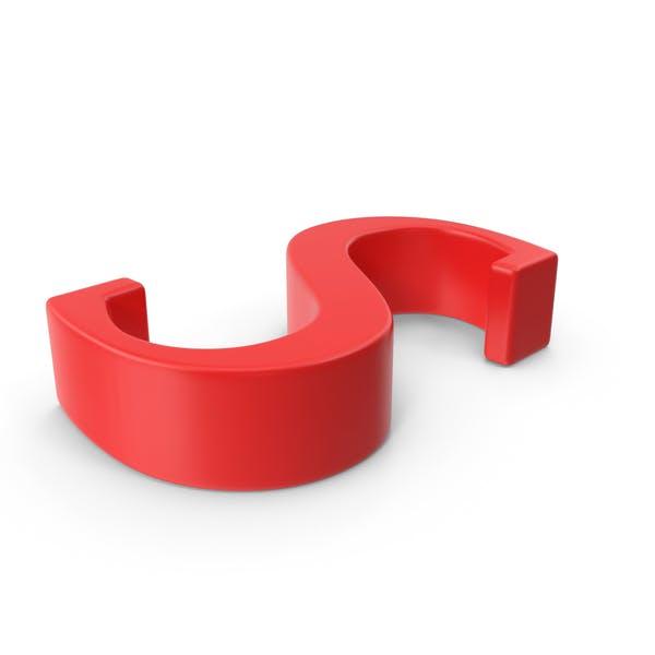 Красная заглавная буква S