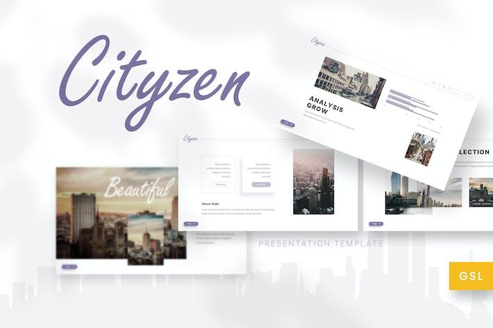 Thumbnail for Cityzen - Cinema Google Slides Template