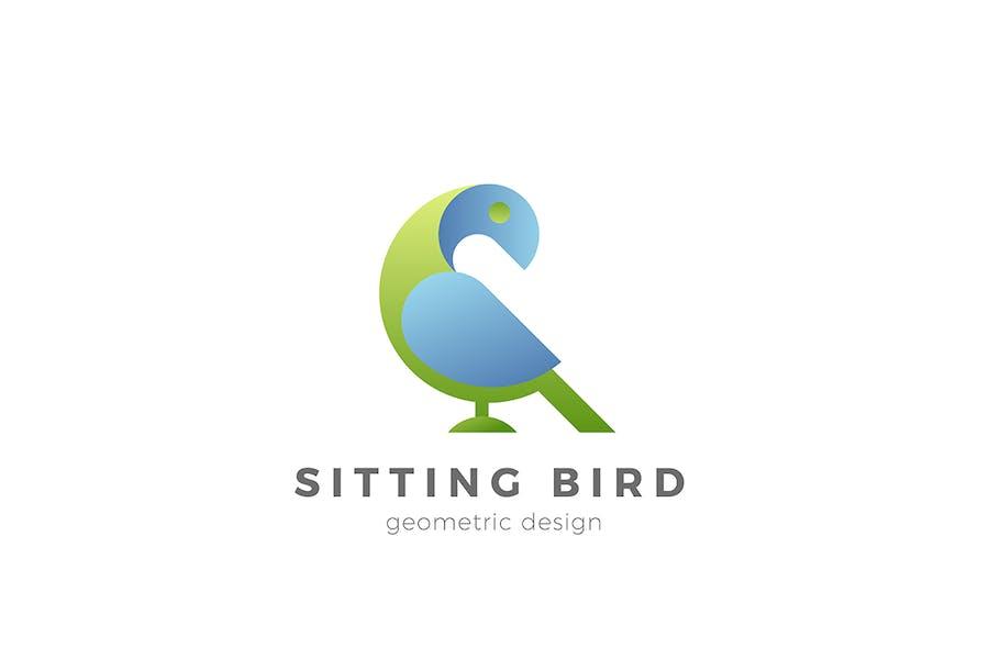 Bird Logo Geometric Design Style