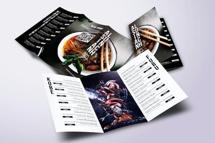 Thumbnail for Asian Cuisine Elegant Trifold Menu A4 & US Letter