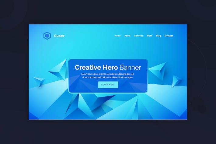 Cuser - Hero Banner Template