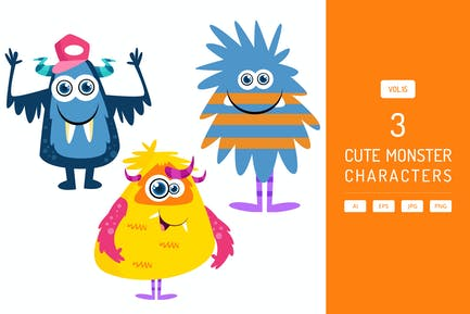 Cute Monster Characters Vol.15