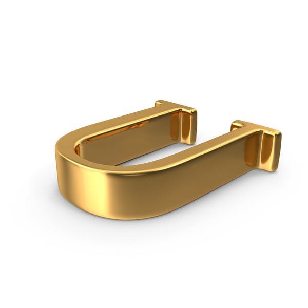 Thumbnail for Gold Capital Letter U