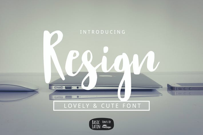 Thumbnail for Resign Modern Brush Font