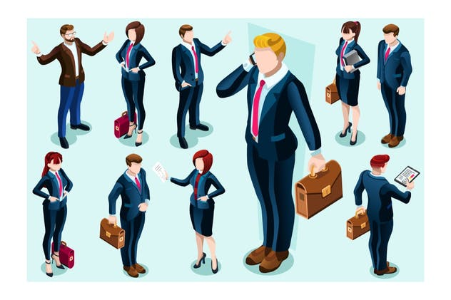 Businesswoman Assistant Concept Isolated Team