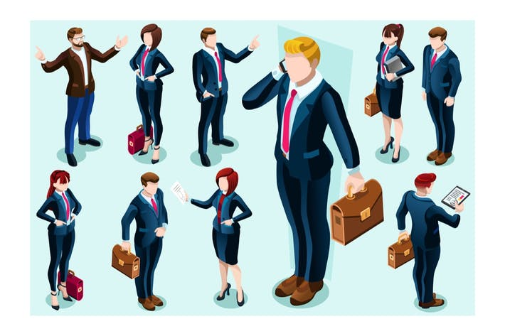 Thumbnail for Businesswoman Assistant Concept Isolated Team