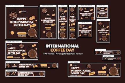 International Coffee Day Banners Ad
