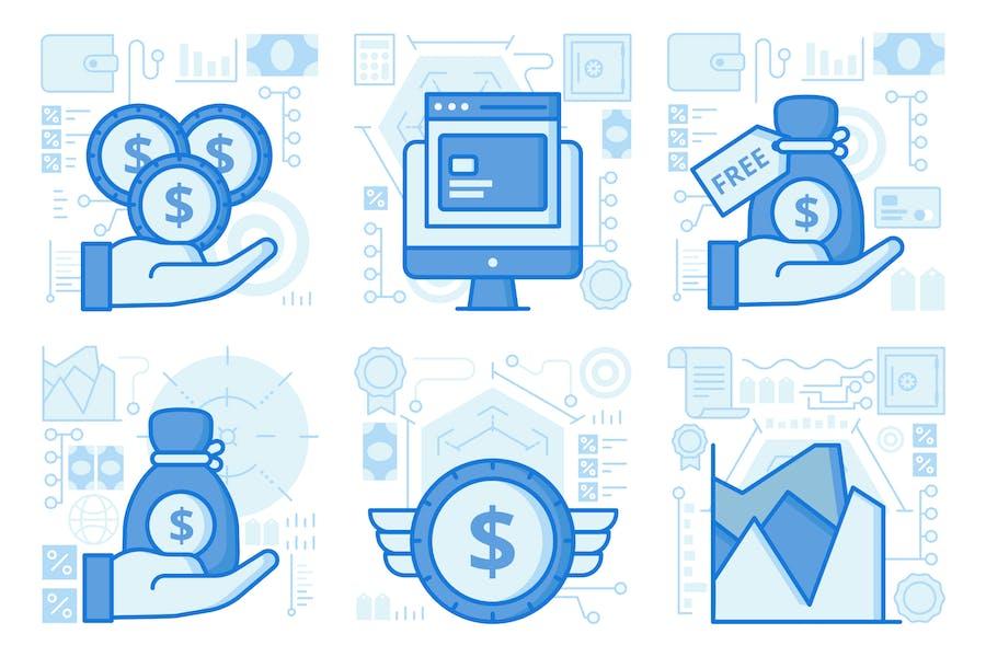 Online Banking Website UI UX Illustrations