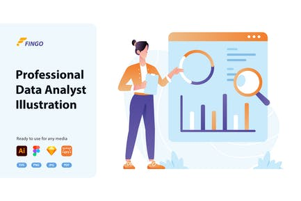 Fingo - Professional Data Analyst Illustration