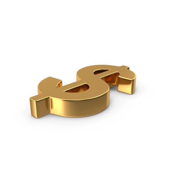 Знак доллара Золотая сторона