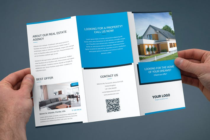 Cover Image For Brochure – Real Estate Tri-Fold