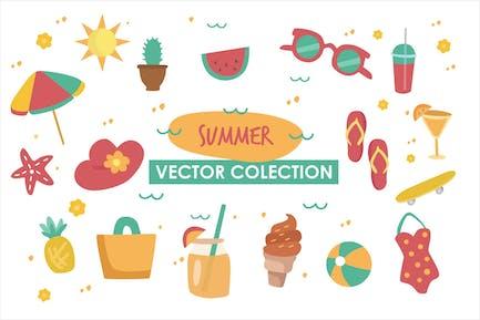 Colleción Verano Vector