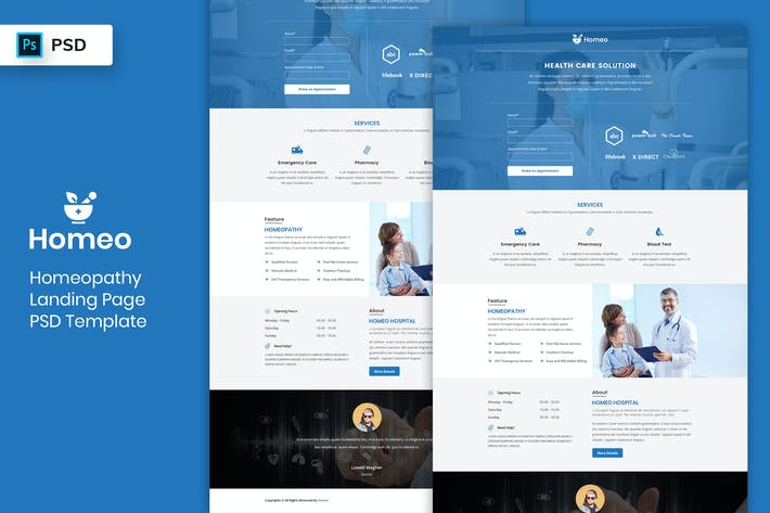 Thumbnail for Homeopathy - Landing Page PSD Template-02