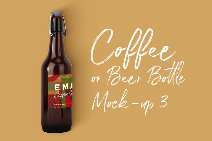 Thumbnail for Coffee or Beer Bottle Mock-up 3