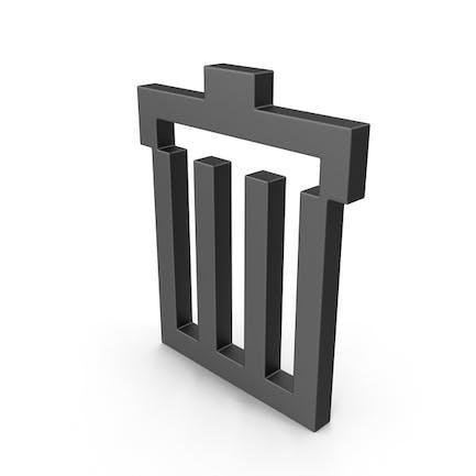 Symbol Recycle Bin Black