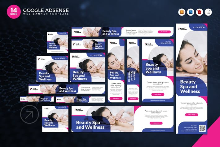 Thumbnail for 14 Spa Relaxation Google Adsense Web Banner