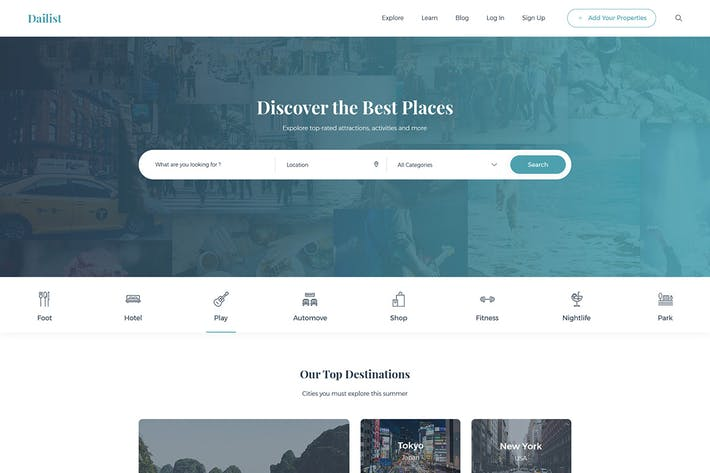 Thumbnail for Dailist - Directory & Listing HTML Template