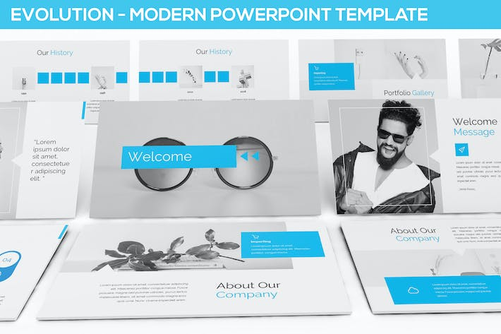 Evolution Modern Powerpoint Template By Slidefactory On Envato