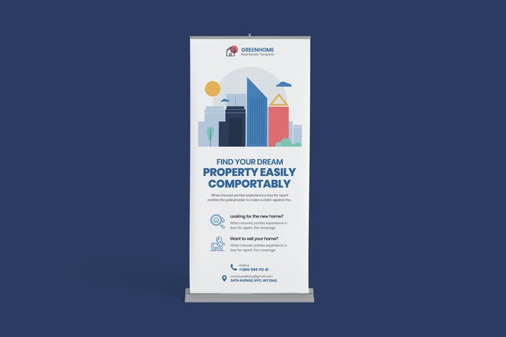 Thumbnail for Real Estate Rollup PSD Template