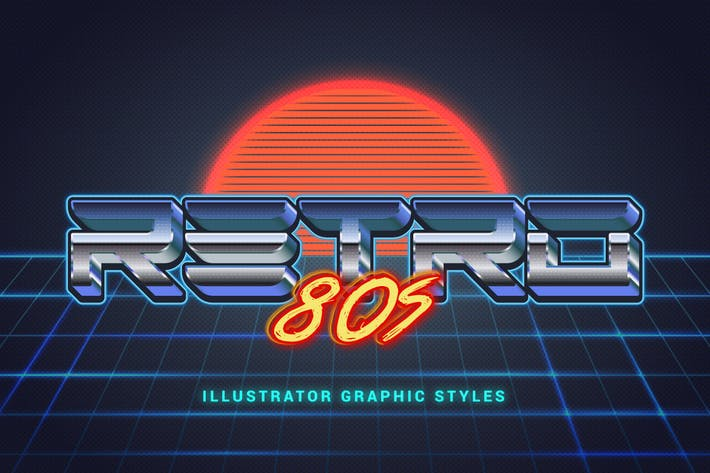 Thumbnail for 80s Retro Illustrator Styles