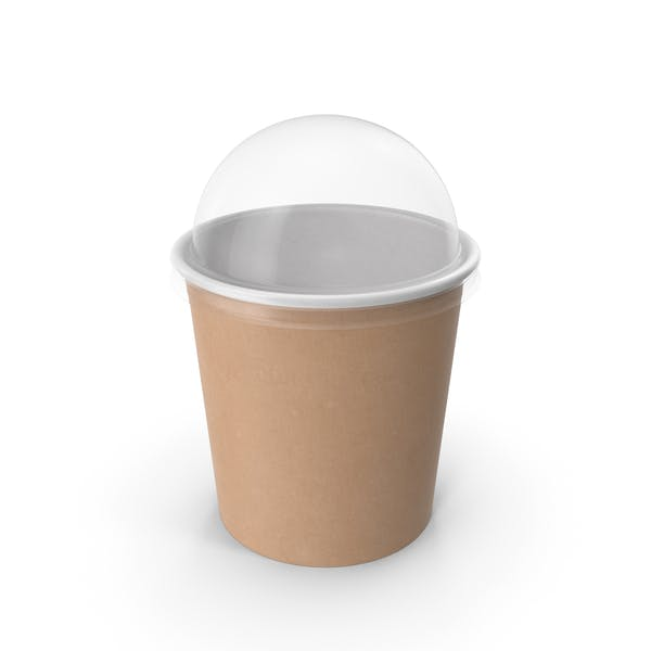 Thumbnail for Kraft Paper Food Cup with Clear Lid for Dessert 16 Oz 450 ml