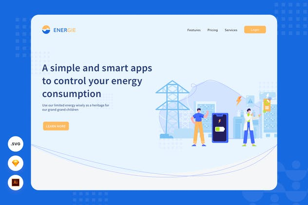 Smart Energy Apss - Website Header - illustration