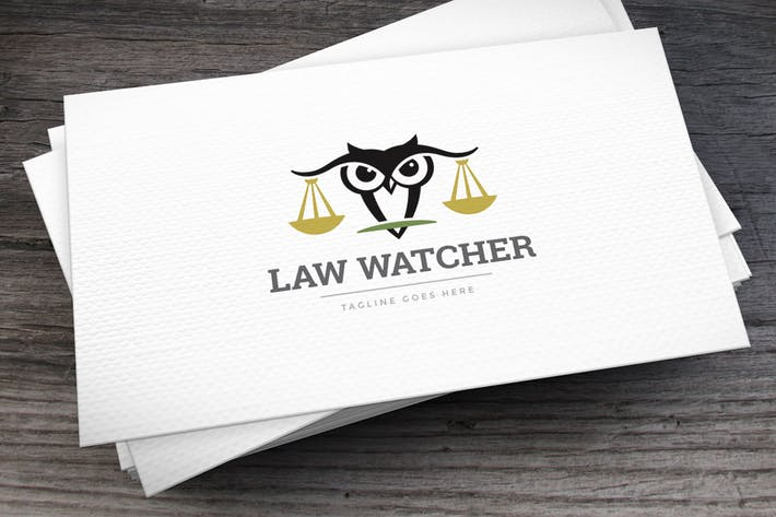 Thumbnail for Law Watcher Logo Template