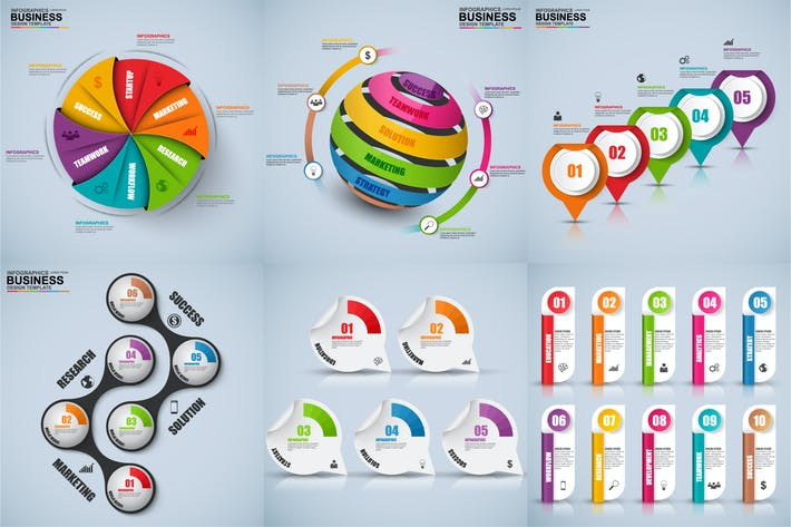 Cover Image For Business 3D Infographics