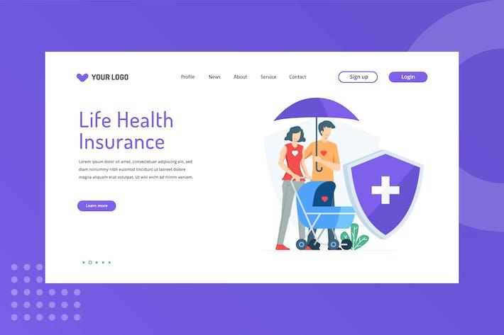 Thumbnail for Modèle de page d'accueil de l'assurance-vie