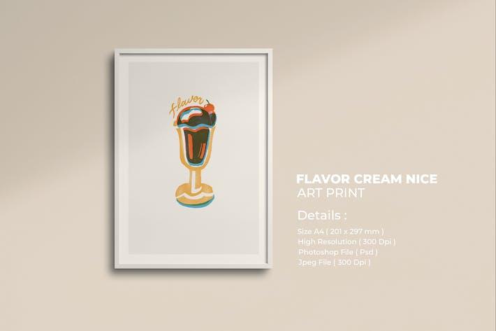 Geschmack Eiscreme