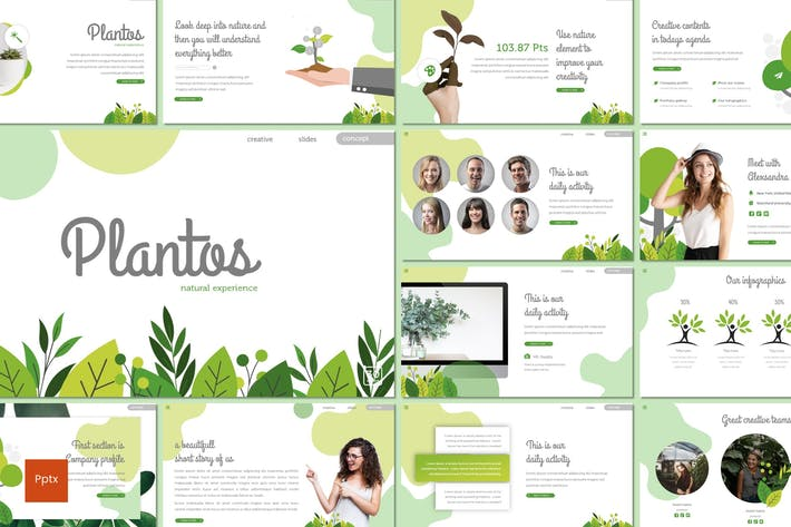 Thumbnail for Plantos - Powerpoint Template