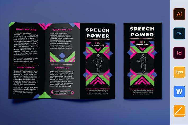 Thumbnail for Speaker Brochure Trifold
