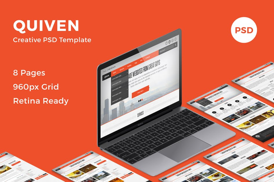 Download Quiven - Creative PSD Template by bestwebsoft