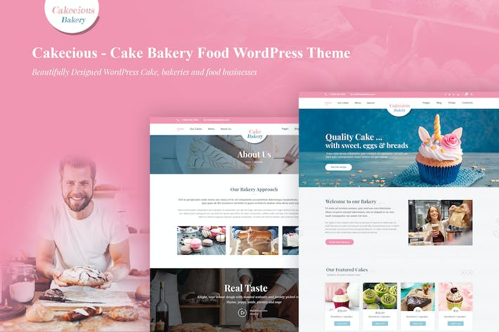 Thumbnail for Cakecious - Cake Bakery Food WordPress Theme