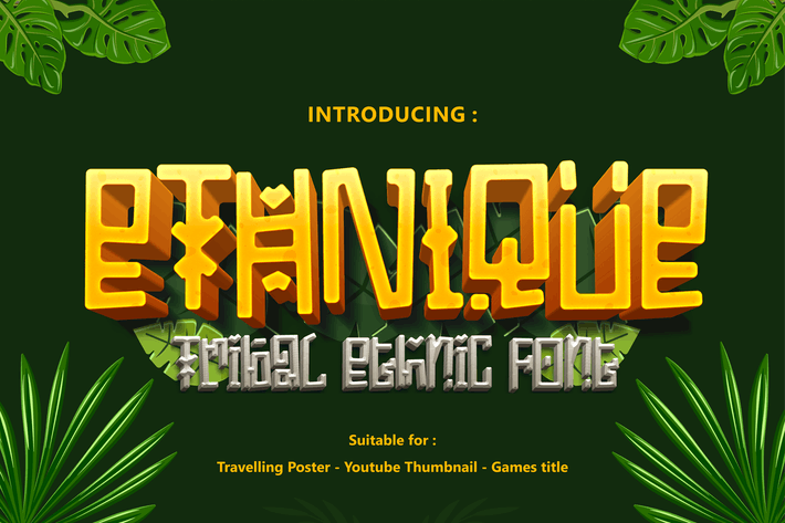 Thumbnail for ETHNIQUE - Tribal and Ethnic game font