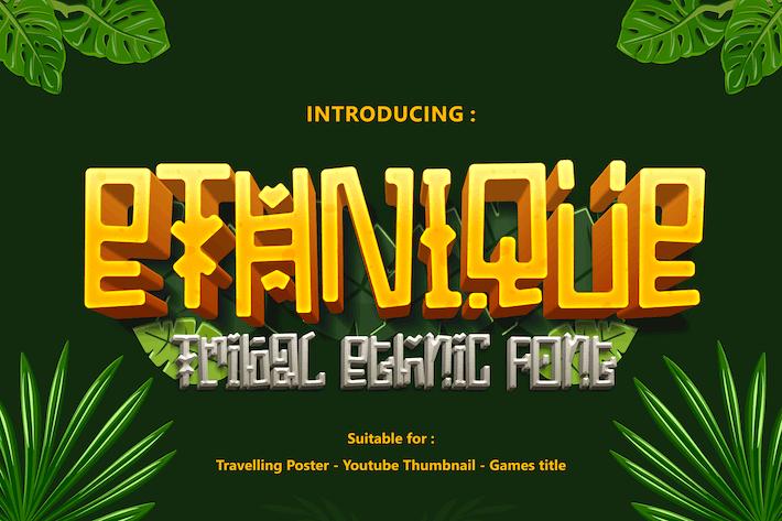 ETHNIQUE - Gaming font
