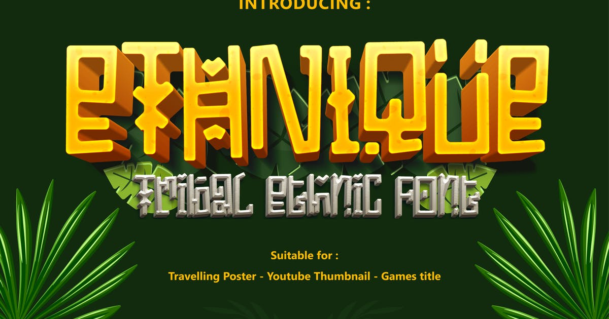 Download ETHNIQUE - Gaming font by Tokokoo