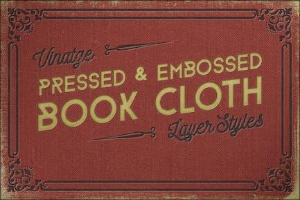 Vintage de tela de Libro prensado+