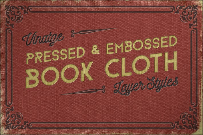 Thumbnail for Vintage Pressed Book Cloth Styles+