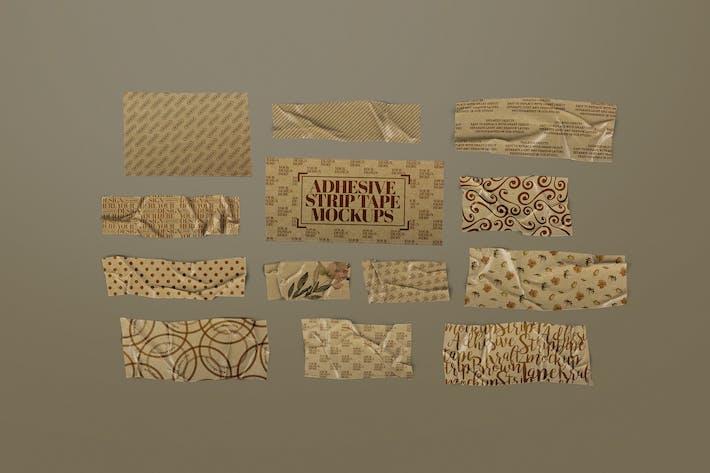Thumbnail for Adhesive Strip Tape Mockup Brown Kraft Paper