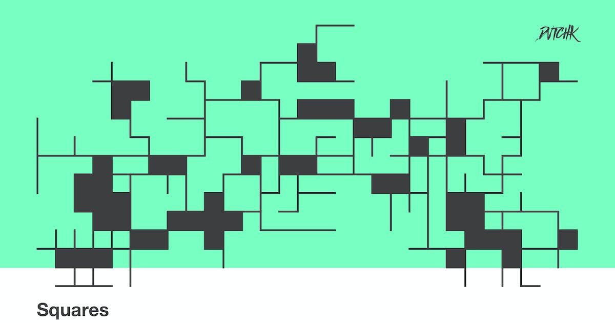 Download Squares | Transparent Outline Shapes | Vol. 03 by devotchkah
