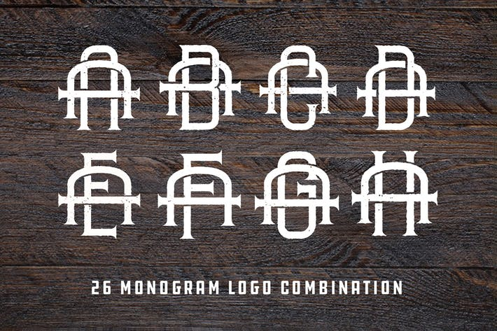 Thumbnail for Vintage Monogram Logo Pack