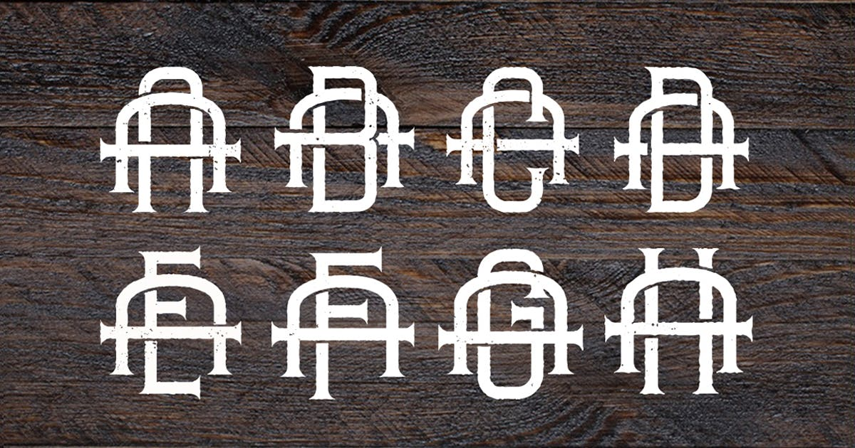 Download Vintage Monogram Logo Pack by VisualColony