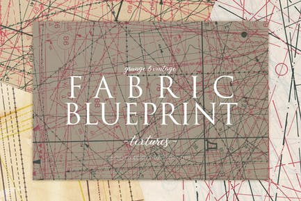 Vintage Fabric Blueprint Textures