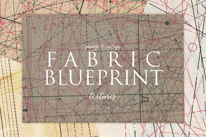 Vintage Fabric Blueprint Textures