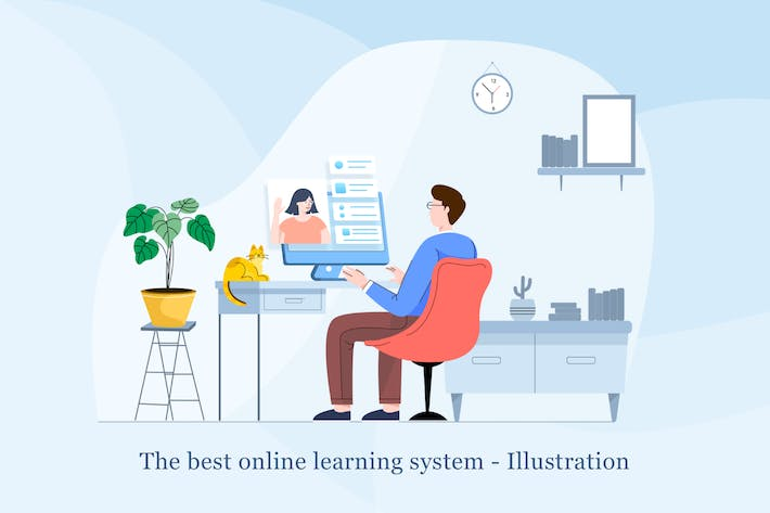 Thumbnail for Online learning system Illustration