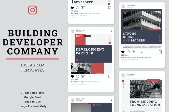 Thumbnail for Building & Construction Instagram Post Template