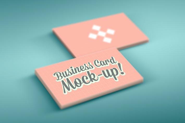 Фотореалистичные Визитная карточка Mock-Up