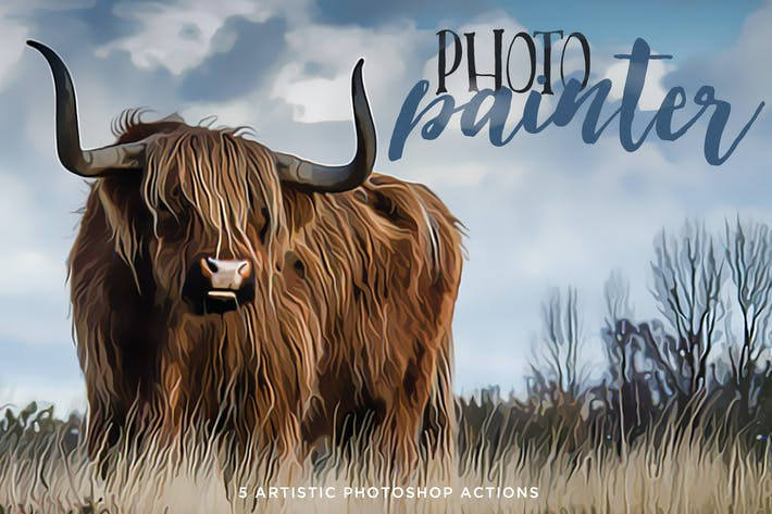 Cover Image For Photo Painter Photoshop Actions Volume 1
