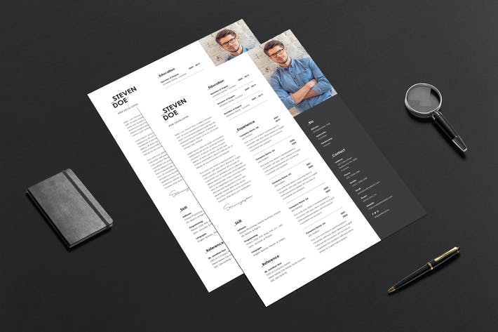 Thumbnail for Resume CV Template 08